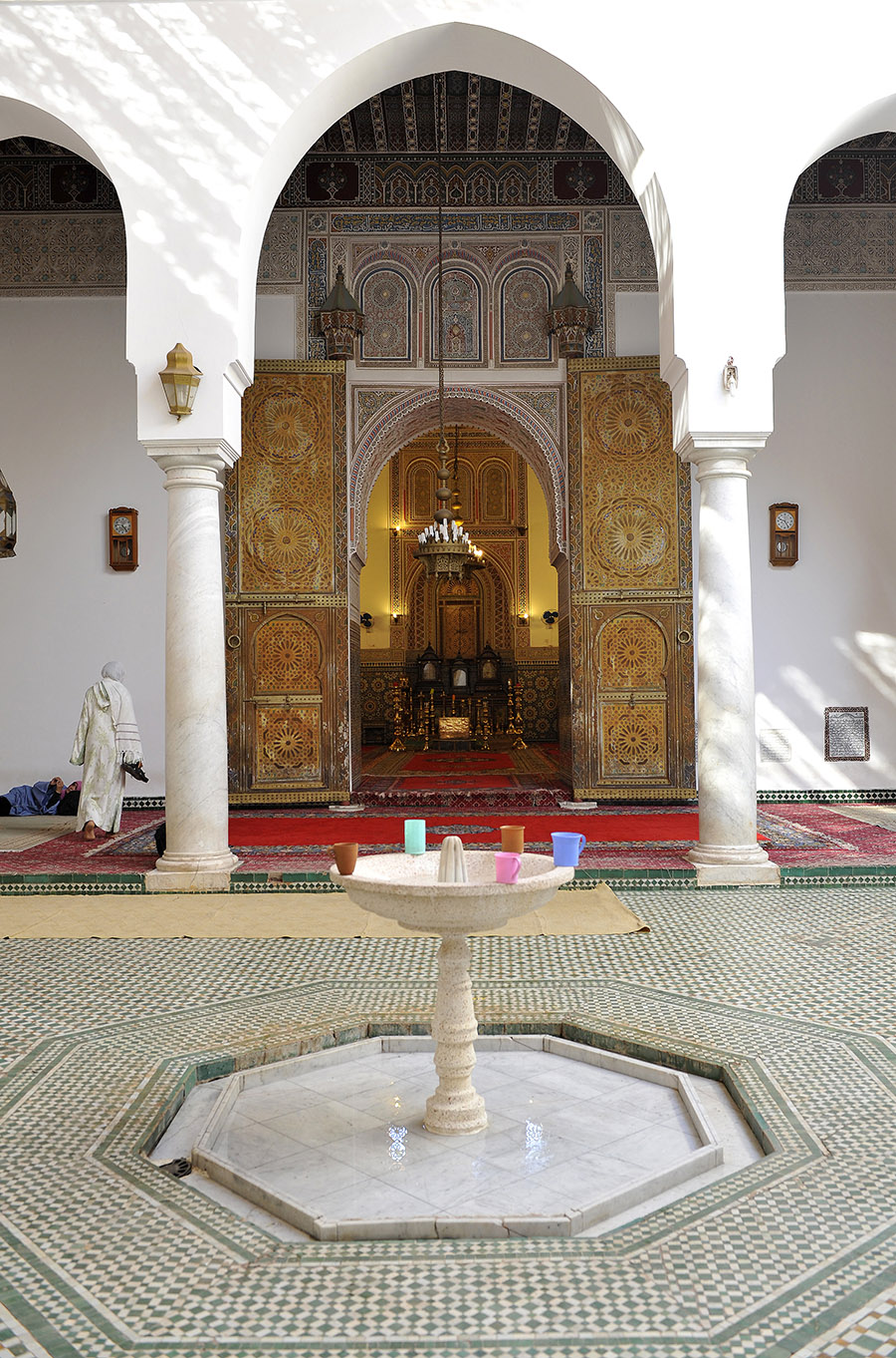 Interior courtyard of the Zaouia Sidi Bel Abbes, Marrakech, 2011