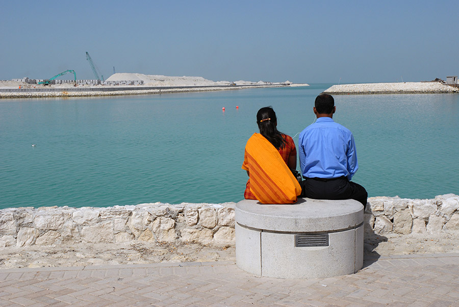 Indian couple and IPod, Bahrain, 2007