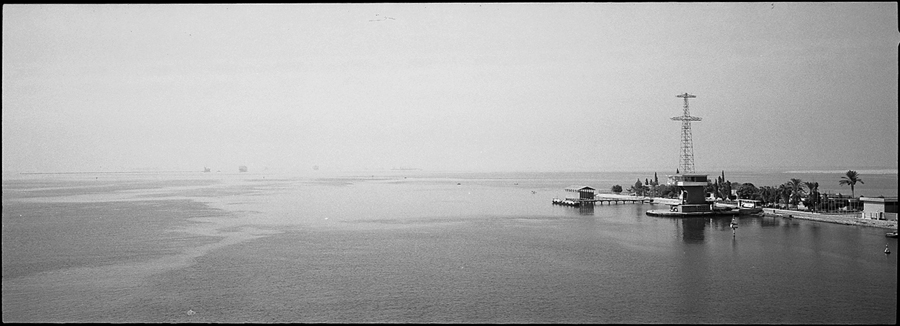 Exiting the Suez Canal, entering the Red Sea
