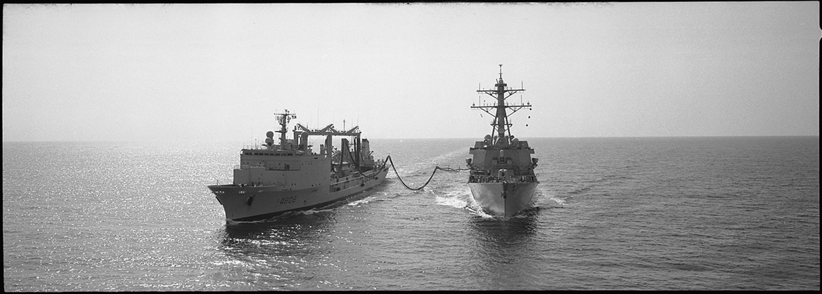 The BCR VAR supplying the USS Destroyer Winston S. Churchill