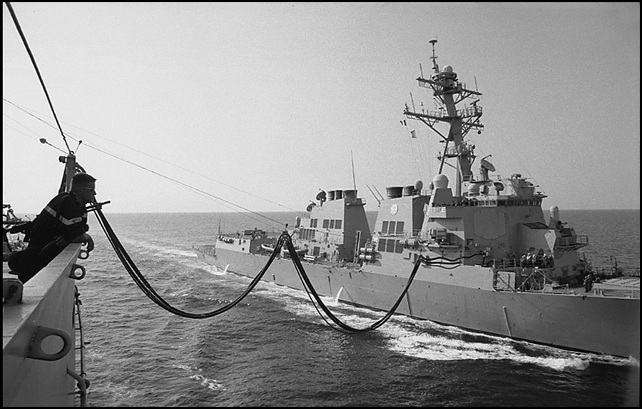 BCR VAR supplying the destroyer USS Winston S. Churchill