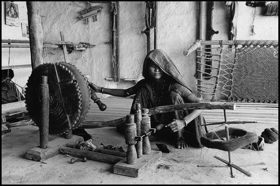 Woman spinning, Kutch, Gujarat, 1978