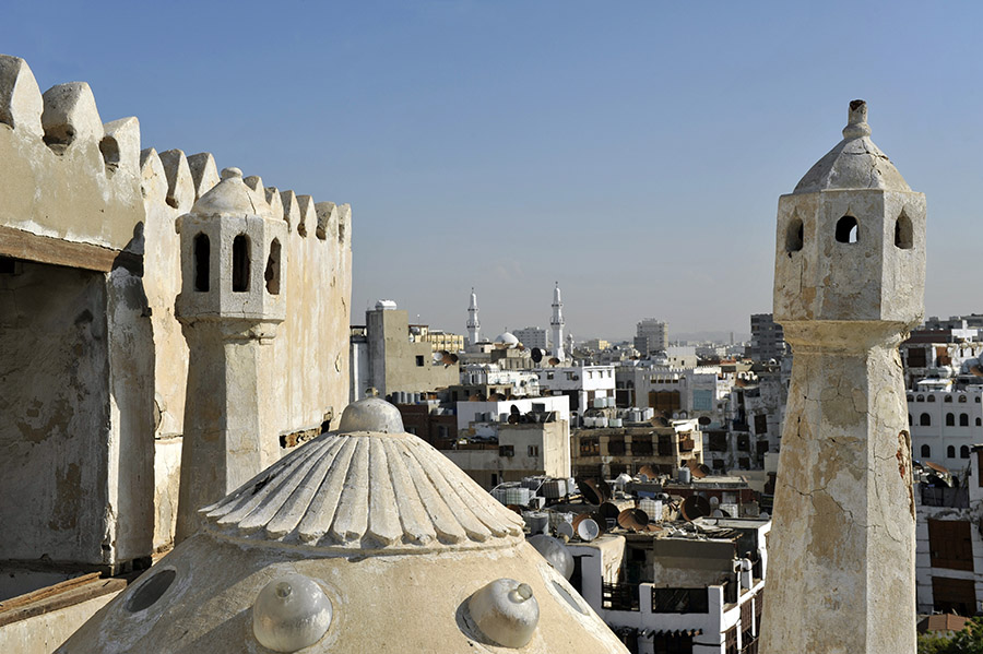 View from Noor Wali house, Al Balad,  Jeddah, Saudi Arabia, 2011