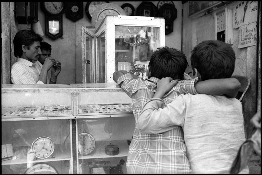 Watch shop, Jodhpur, Rajasthan, 1988