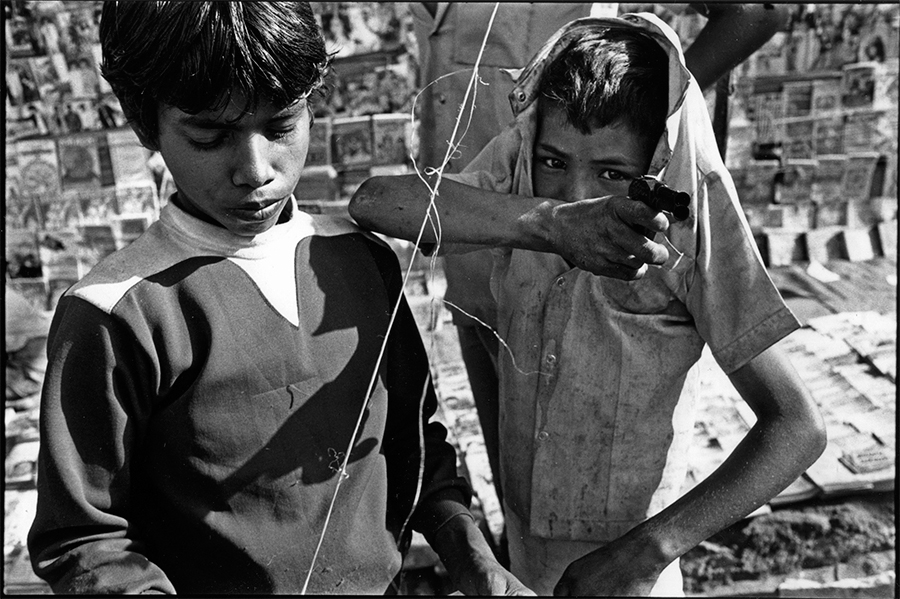 Boy and toy pistol, Jodhpur, Rajasthan, 1988