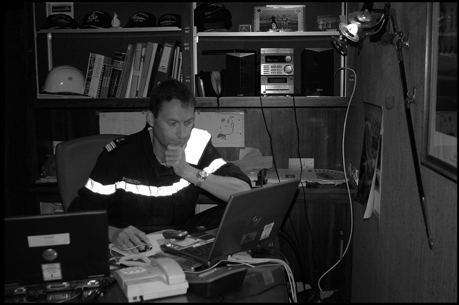 Captain Rémy Poisot, 'Pacha' of the BCR VAR in his rooms