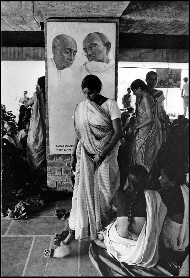 Meeting of women workers at the Gandhi Ashram, Ahmedabad, Gujarat, 1979