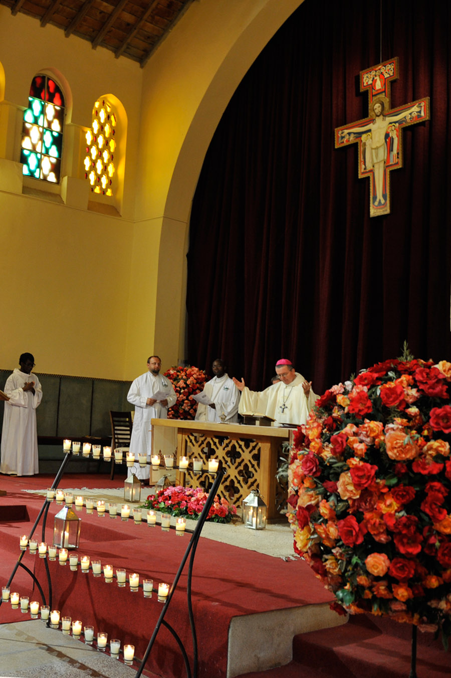 Celebration of a mass by the bishop of Rabat at the Church of the Martyr Saints,  Marrakech, 2012