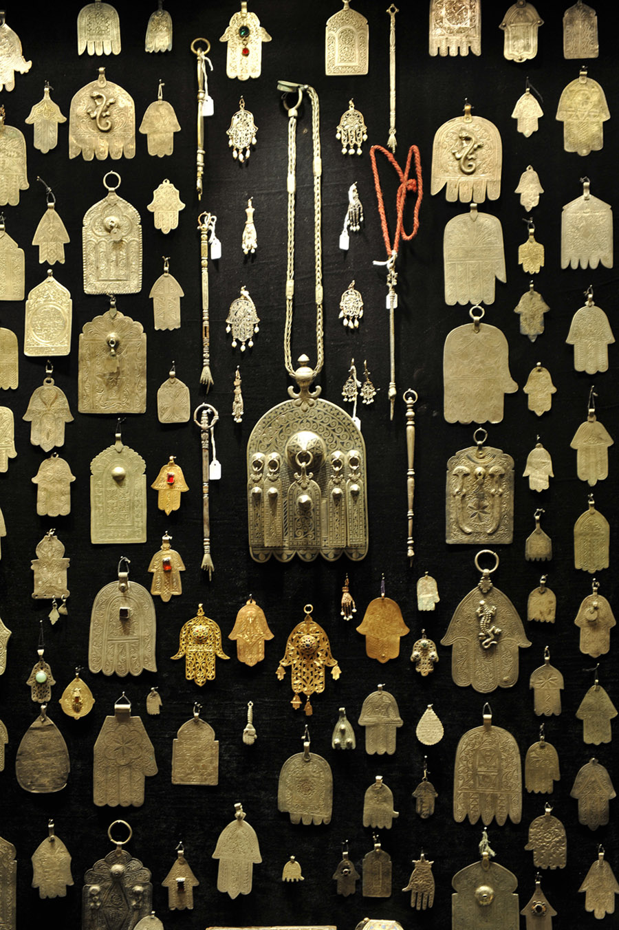 Khamsa worn by both Muslims and Jews for protection against the evil eye, 2011