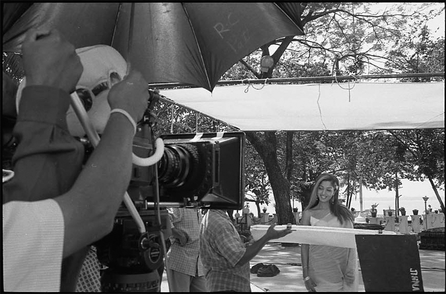 Shooting of a film, Cochin, Kerala, 2003
