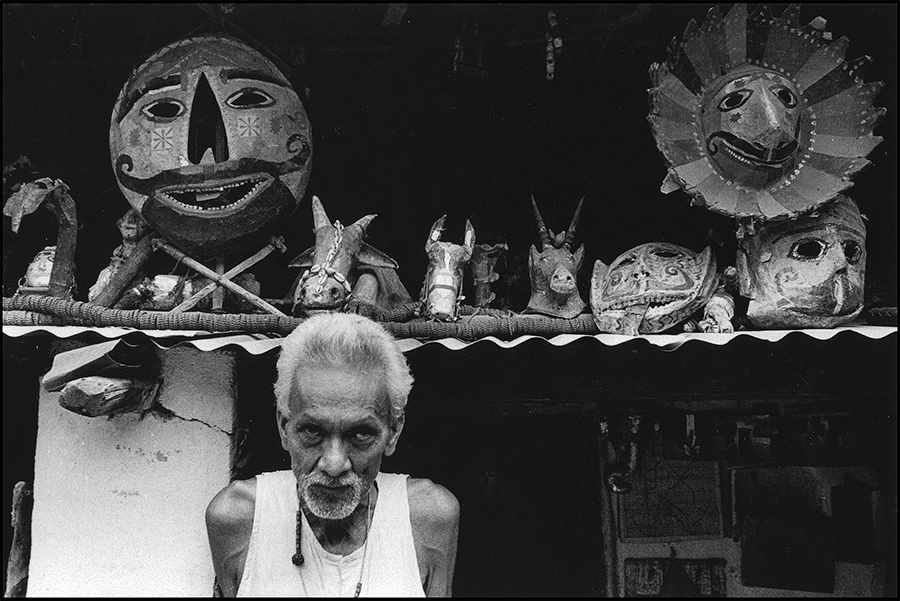 A Mask maker, Khajuraho, 1981