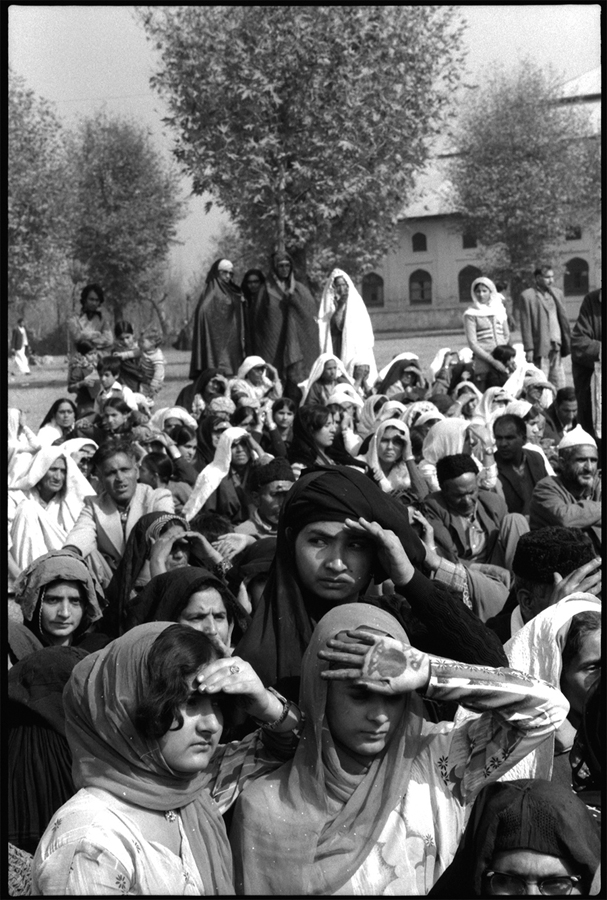 Women gather for prayer, Srinagar, Kashmir, 1979