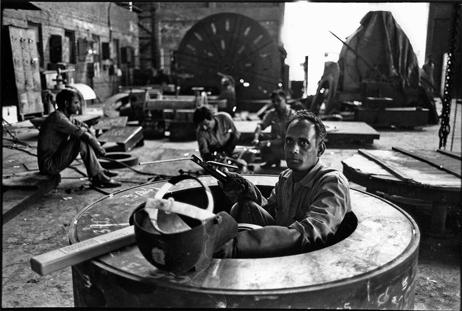 Steel dish factory,  Ahmedabad, Gujarat, 1985