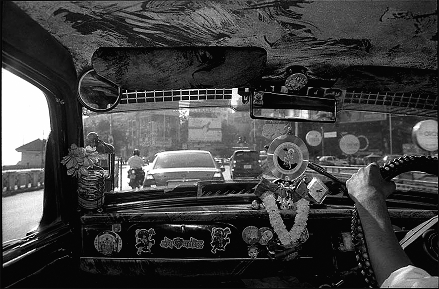 Inside a taxi, Bombay, 2003
