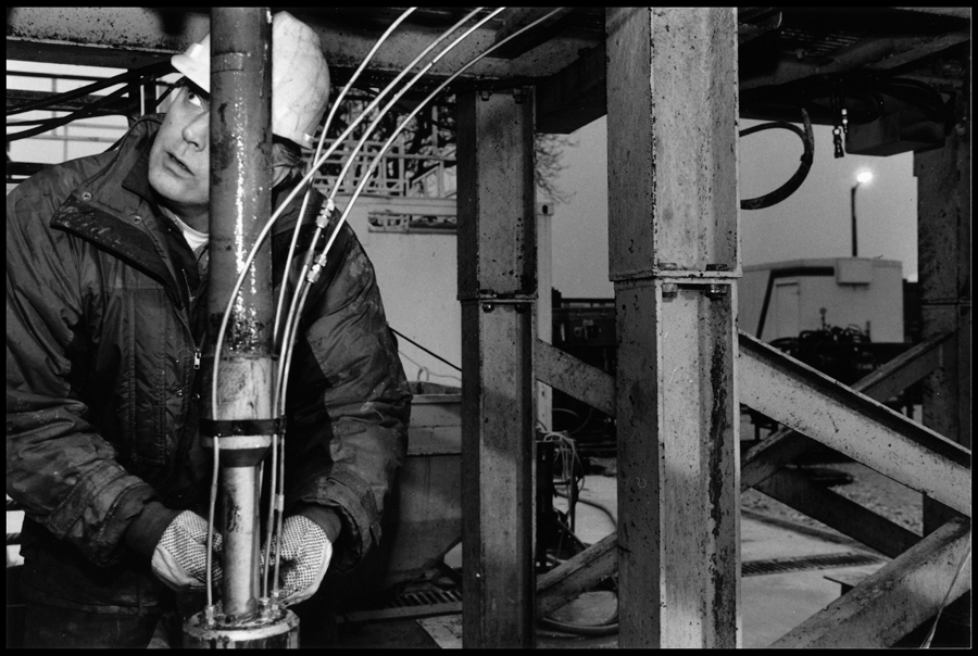 Preparation of a hydrogeological test device.